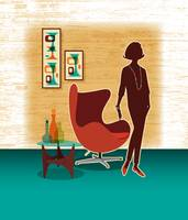 Mid Century Modern Egg Chair + Swanky Lady