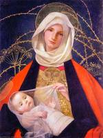 Madonna and Child . Marianne Stokes.Jpg