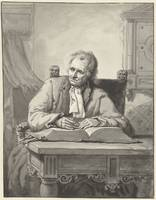 Man sitting at a table with an open bible beaten,