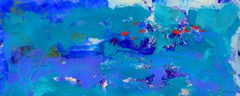 Abstract Blue Seas Panorama