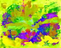 Abstract Lemon Lime Palm Springs Swagger