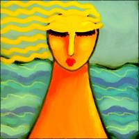 Woman by the Sea Abstract Digital Painting