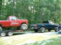 Big Red Ford going to the 'bog!