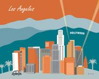 Los Angeles, California in Orange