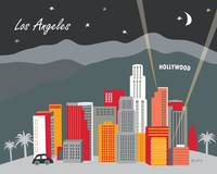 Los Angeles, California in black