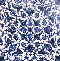A Damascus pottery tile, Syria, late 16th-early 17