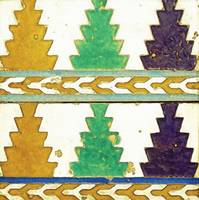 A pair of Spanish cuerda seca tiles, Spain,, by Ad