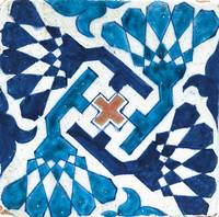 A Multan pottery tile, Pakistan, late 15th century
