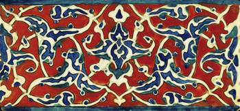 An Iznik polychrome pottery tile, Turkey circa 158