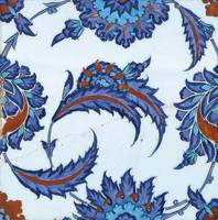 An Iznik polychrome pottery tile, Turkey, circa 15