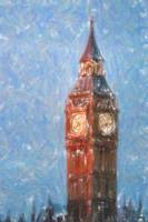 Pastel Painting of Big Ben Tower in London