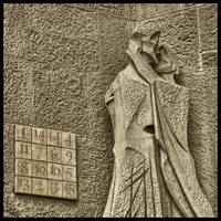 Judas Treason Kiss With Magic Square Sagrada Famil