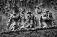 Three Wise Men On Sagrada Familia Basilica