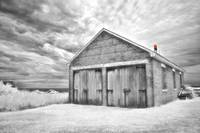 Southeast Light Boathouse- Black and White
