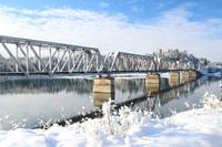 Snowy Railroad Bridge