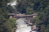 Cantilevered Bridge, Trongsa, Bhutan