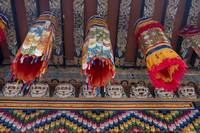 Banners at Temple, Punahka, Bhutan