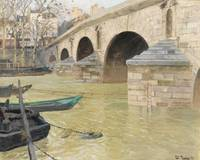 Frits Thaulow 1847 - 1906   THE PONT MARIE, PARIS