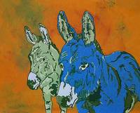 Burro Brothers 20 x 16 Acrylic image 2 Blue and Or