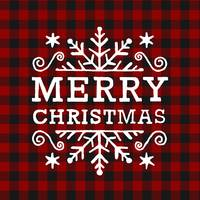 red black plaid  white holiday greet