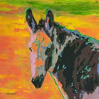 Sunset Gaze Donkey Painting