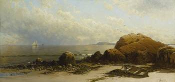 Alfred Thompson Bricher 1837 - 1908 LOW TIDE