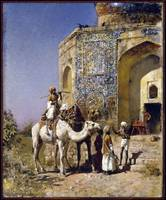 Edwin Lord Weeks The Old Blue-Tiled Mosque