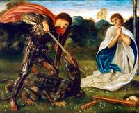 Edward Burne-Jones St. George Kills the Dragon