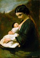 Jean-Baptiste Camille Corot Mother and Child