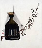 Shibata Zeshin Plum Branch with Oil Lamp