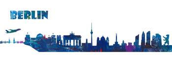 Berlin Skyline in Clean Scissor Cut Style I
