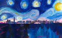 Starry Night in Venice - Van Gogh inspired Italy