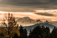 Autumn Sunset Over Mount Baker