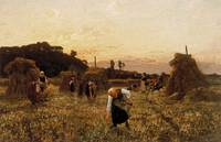 Gleaners at sunset, 1863 - Jules Breton