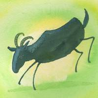 Capricorn Zodiac Horoscope Painting