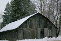 Barn During Snow Storm