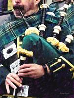 Closeup of Bagpiper