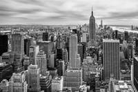 Black and White NYC Photo Framed Print
