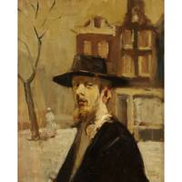 ISAAC ISRAELS (dutch 1856-1934) RABBI IN AMSTERDAM