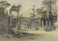 James Baker Pyne (1800-1870) Ruins at Virginia Wat