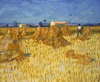 Harvest in Provence at Wheat Fields (Van Gogh seri