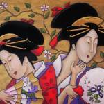 """Geishas, Dacia and Stacia"" by JanetNelson"