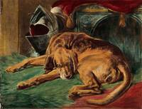 Coloured lithograph after Edwin Landseer