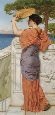 John William Godward, R.B.A. 1861-1922 ON THE BALC