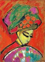 Alexei Jawlensky Young Girl with a Flowered Hat