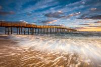 North Carolina Outer Banks Nags Head Pier Seascape