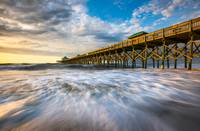Folly Beach SC Pier Charleston South Carolina Seas