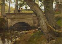 LECOMTE, PAUL Paris 1842 - 1920 Course of a Stream