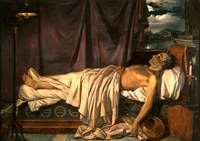 Lord Byron on his Death-bed c. 1826