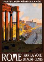 Vintage Rome Italy Ruins Travel Poster